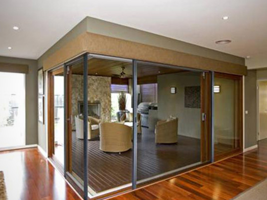 Timber Trislide Doors
