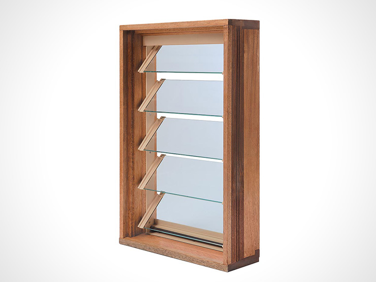 Timber louvre windows window warehouse for Installing double hung windows